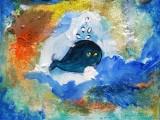Walvis in de zee