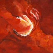 Cosmos 05 - mixed media acryl op doek