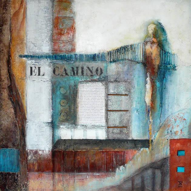 El Camino - mixed media acryl op mdf