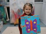 Sanne 4 in de Serie Kinderkunst
