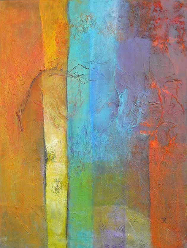 Materie 07 - mixed media acryl op doek