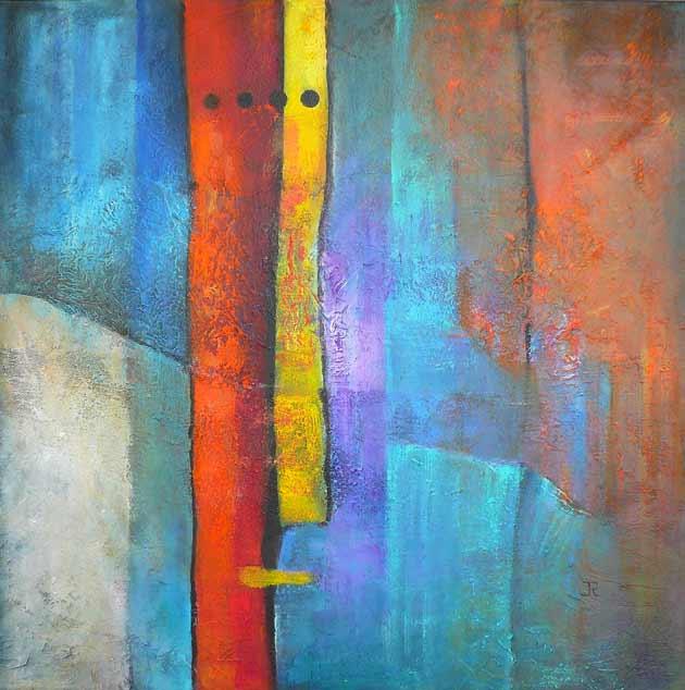 Materie 08 - mixed media acryl op doek