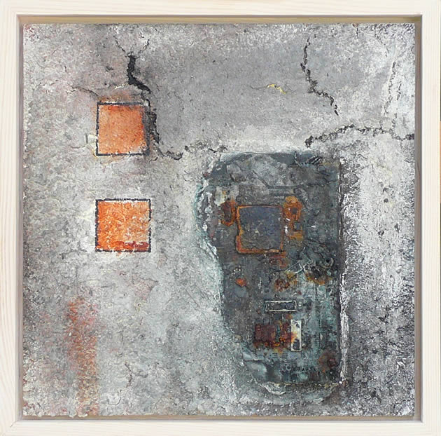 Materie 10 - mixed media acryl op mdf
