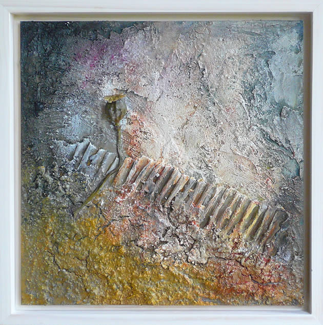 Materie 14 - mixed media acryl op mdf