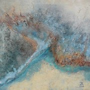 Meander 01 - mixed media acryl op doek
