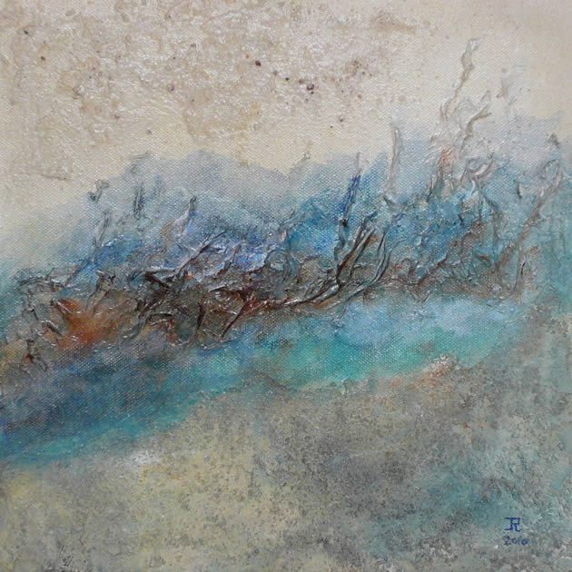 Meander 03 - mixed media acryl op doek